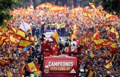 Unión, pasión, afición, España campeón <p>